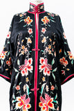 1920s Silk Embroidered Robe with Gold Threads - M