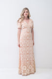 1970s Crochet Lace Dress - M/L