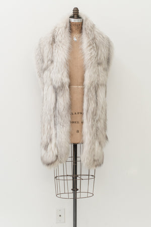 1950s Silver Fox Fur Stole - One Size