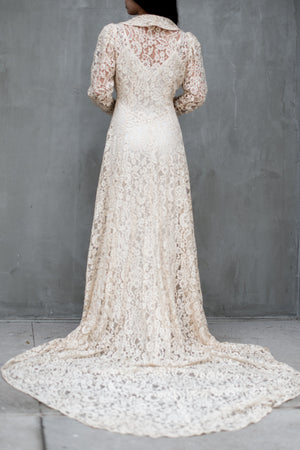 1930s Sheer Lace Overdress - XS/S