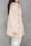 Vintage Light Pink Shaggy Coat - S/M