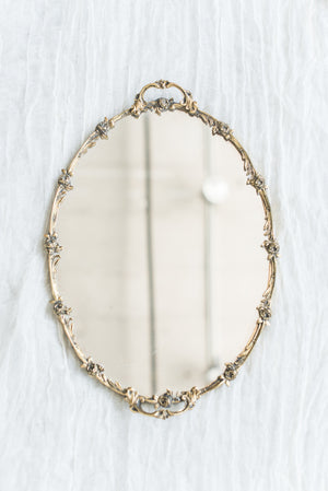 Vintage Gold Mirrored Tray