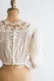 Antique Tambour Embroidered Pigeon Bodice - XS