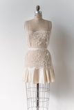 Vintage Sheer Lace and Silk Chemise Dress - S/M