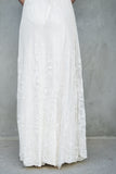 Antique Ornate Edwardian Embroidered Tulle Skirt - M