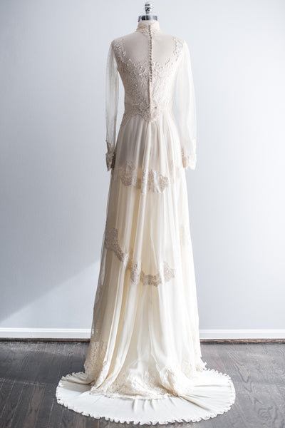 1960's Tulle and Lace Gown - XS/S