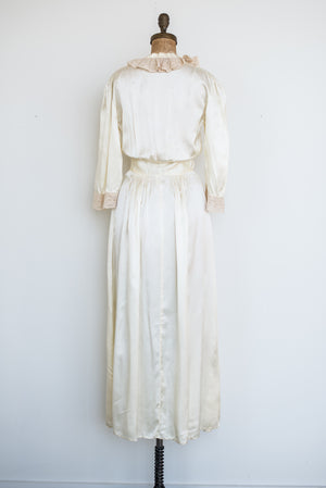 1940s Satin Dressing Gown - XS/S