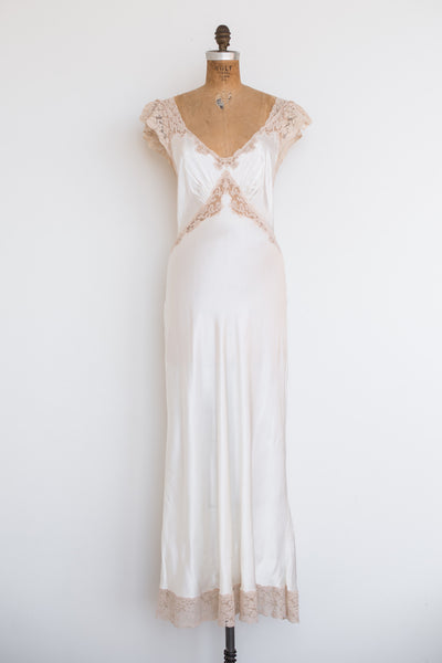 1930s Satin and Lace Slip - S