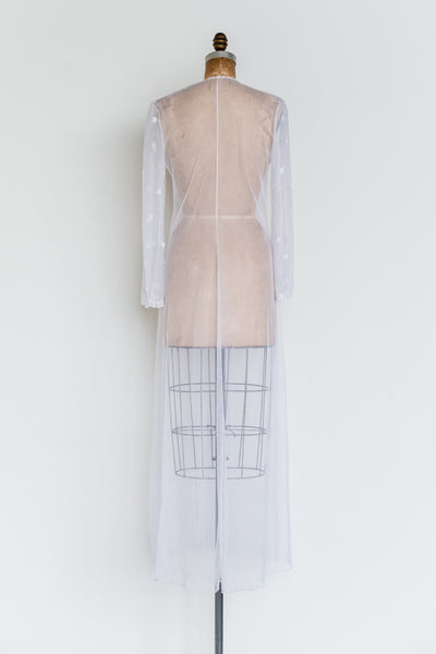 Vintage Tulle Dressing Gown - M/L