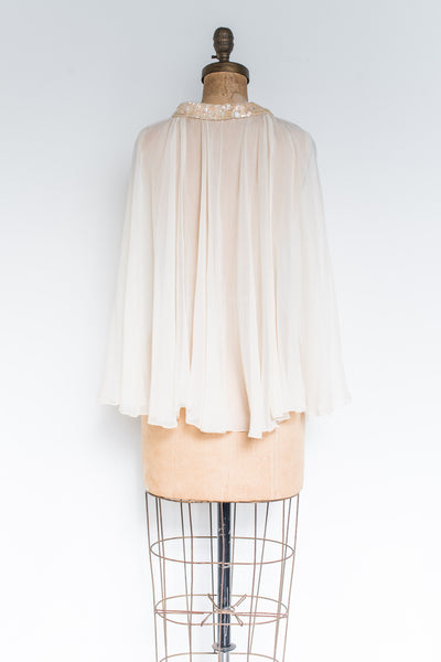 Antique Silk Chiffon Capelet - One Size