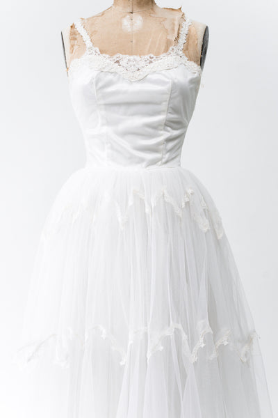 1950s Tulle Wedding Gown - XS