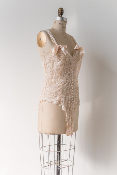 Ivory Lace Romper - M