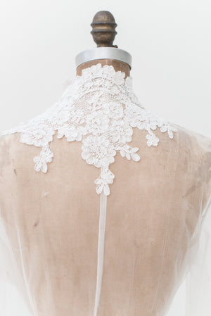 Lace Trimmed Trained Dressing Gown