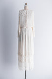 1980's Silk Deco Inspired Dolman Sleeves Gown - S/M