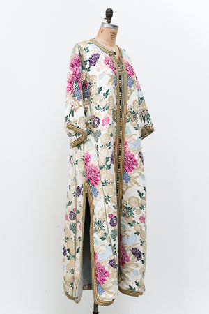 1960s Heavy Embroidered Brochade Robe/Duster - L