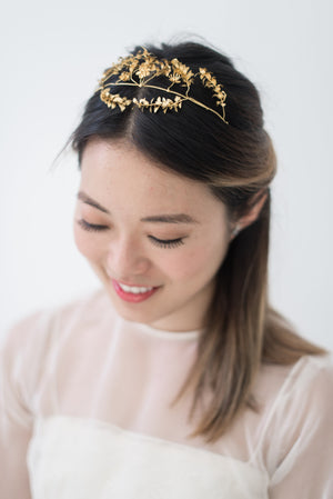Antique Gold German Metal Tiara