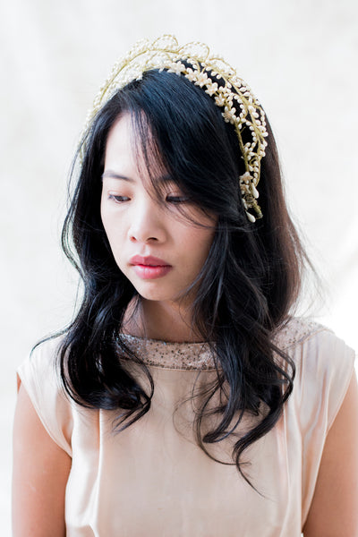 Vintage  Wax Tiara - One Size
