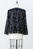 1980s Silk Sequined Jacket - M