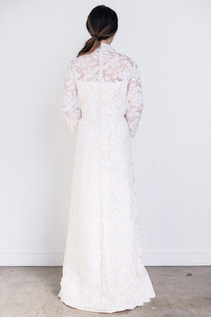 1960s Corded Lace Gown - S/M