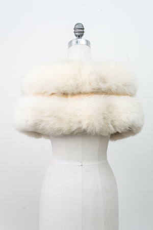 1950s Rare Artic Fox Fur Stole - One Size