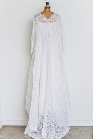 1970s Empire Lace Gown - S/M