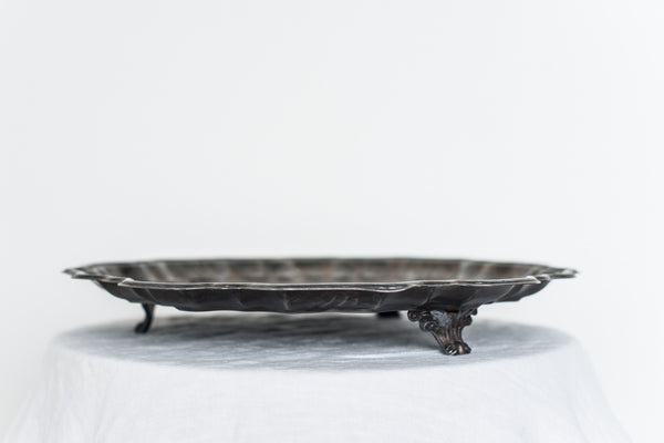 Vintage Footed Scalloped Tray