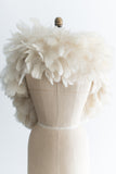 VIntage Ivory Feather Boa - One Size