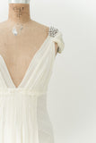 RENTAL J. Mendel Buttercream Silk Gown - S