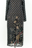 1980s Silk Flapper-Style Beaded Dress - S/M