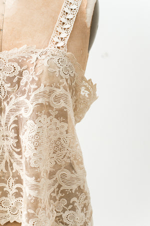 1920s Antique Lace Camisole - L