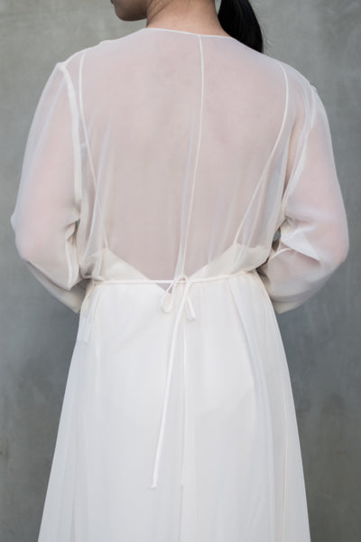 Vintage 1980s Shell Pink Dressing Gown - M
