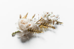 Antique Wax and Fabric Boutonniere