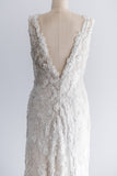 Lace Applique Wedding Gown - S/M