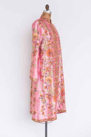 1980s Silk Embroidered Duster - M