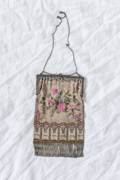 1920s French Micro Beaded Purse