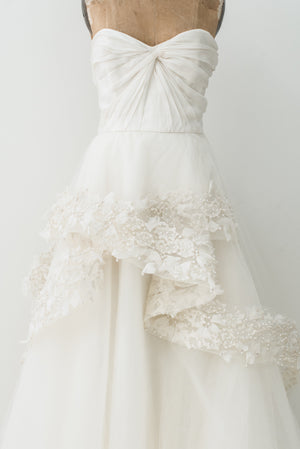 RENTAL Tulle Embellished Ballgown Dress -S/M