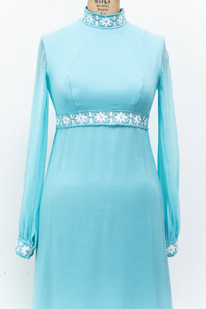 1960s Baby Blue Gown - S