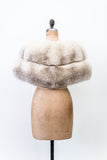 1950s Silk Lined Plush Fur Stole - One Size