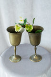 Pair of Antique Metal Cups