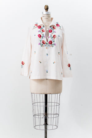 Vintage Embroidered Shirt - M
