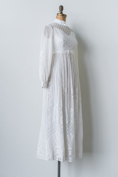 1960s Crochet Lace Gown - XS