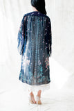 Vintage Navy Blue Chiffon Duster - One Size