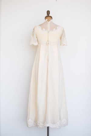 1960s Silk Organza and Lace Dress - XS