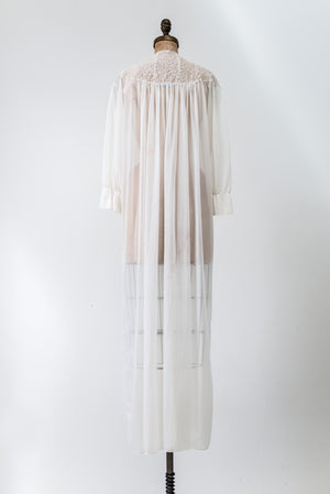 1960s Sheer Dressing Gown - One Size