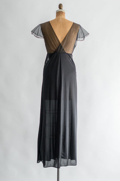 1960s Black Nightgown - M/L