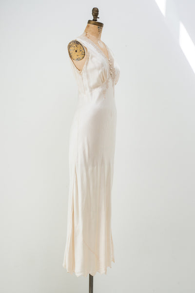 1930s Silk and Lace Slip - XS/S
