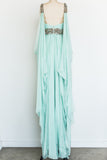 RENTAL Marchesa Seafoam Silk Gown - S/6