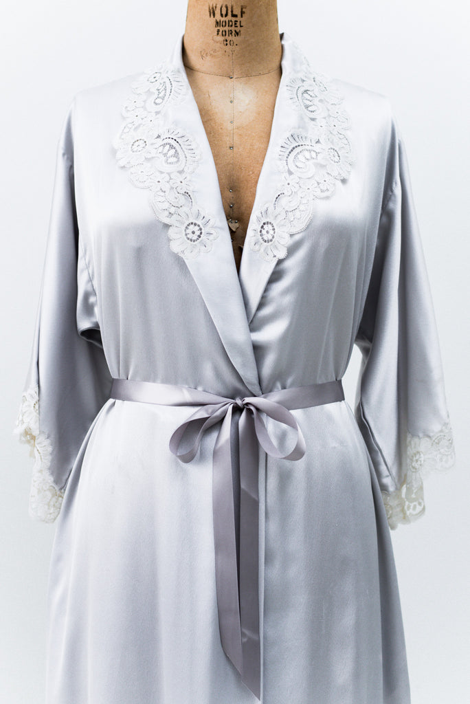 Vintage Pewter Christian Dior Dressing Gown - M ...