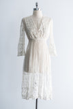Edwardian Needle Lace Dress - XS