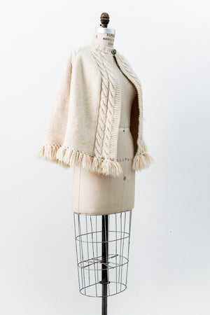 1950s Vintage Wool Cape - One Size